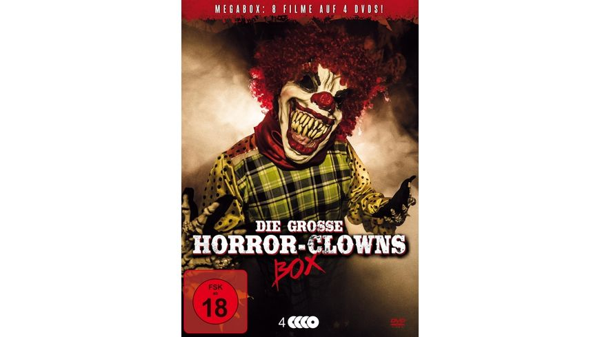 Die grosse Horror Clowns Deluxe Mega Box 4 DVDs