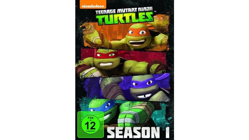 Teenage Mutant Ninja Turtles Season 1 4 DVDs