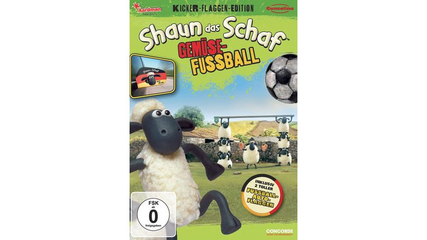 Shaun das Schaf Gemuesefussball Kicker Flaggen Edition