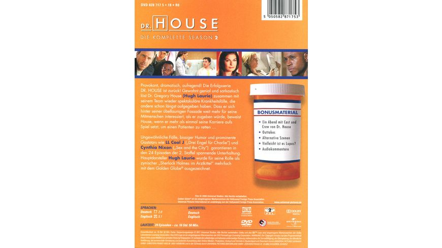 Dr House Season 2 6 DVDs