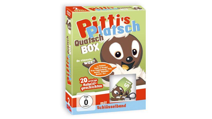 Pitti s Platsch Quatsch Box mit Schluesselband 2 DVDs
