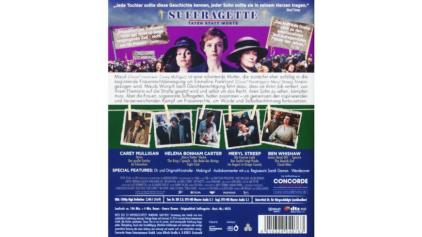 Suffragette Taten statt Worte