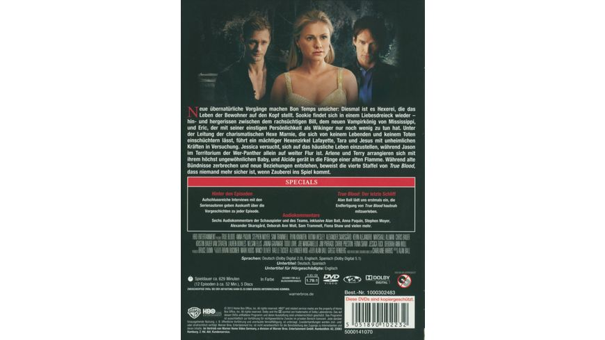 True Blood Staffel 4 6 DVDs