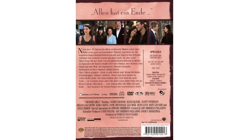 Gilmore Girls Staffel 7 6 DVDs