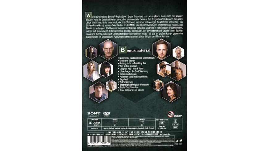 Breaking Bad Season 2 4 DVDs