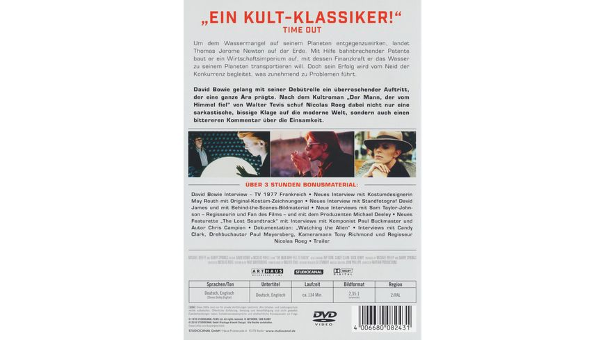 Der Mann der vom Himmel fiel Digital Remastered 2 DVDs