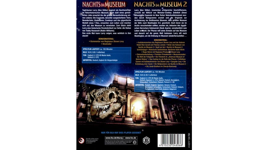 Nachts im Museum 1 2 2 BRs
