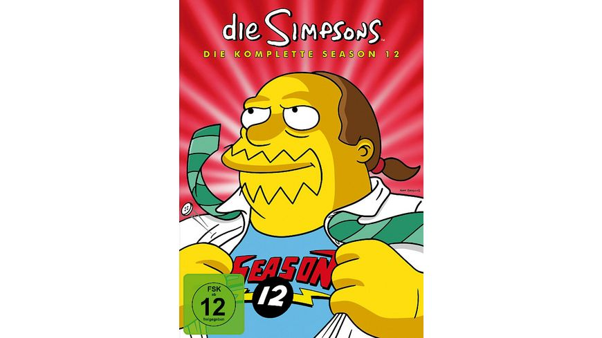 Die Simpsons Season 12 CE 4 DVDs Digipack