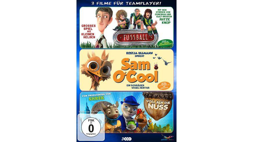 Teamplayer Box Fussball Sam O Cool Voll auf die Nuss 3 DVDs