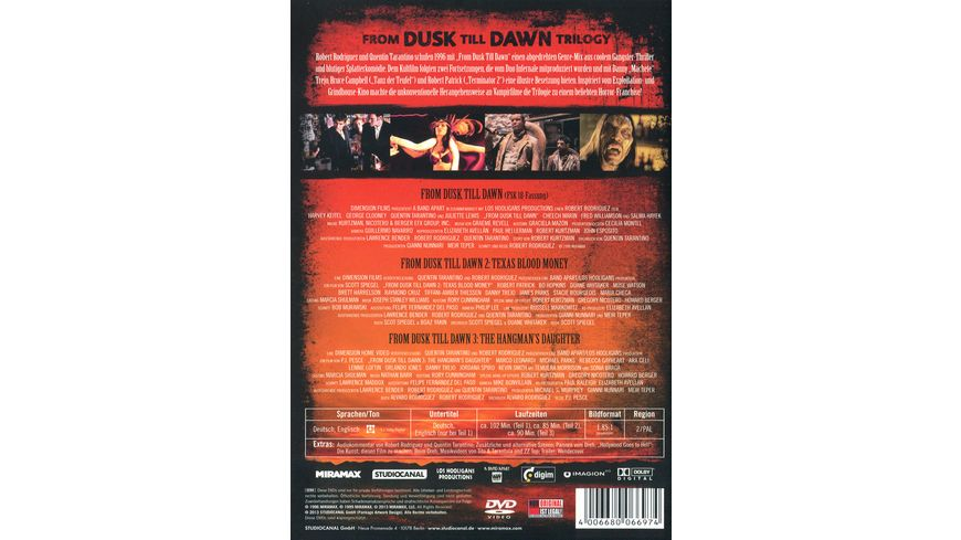 From dusk till dawn Trilogy 3 DVDs