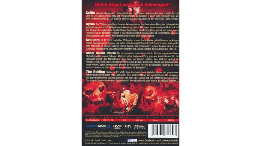 Scream pray die Movie Horror Box 2 DVDs