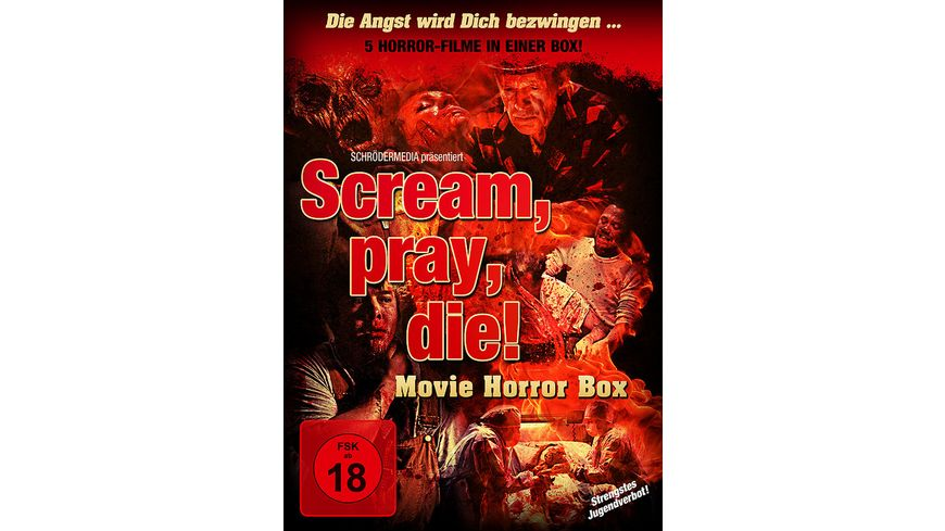 Scream pray die Movie Horror Box 2 DVDs