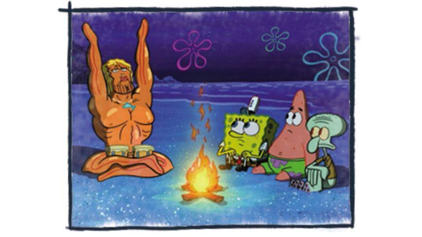 SpongeBob Schwammkopf Die Welle zurueck