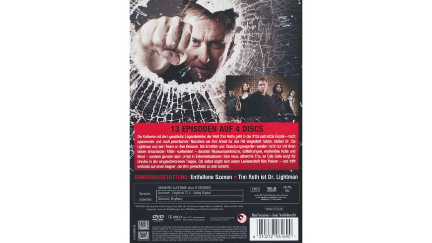 Lie to me Season 3 4 DVDs