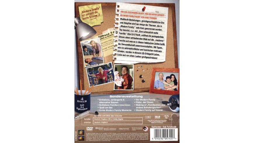 Modern Family Season 1 4 DVDs