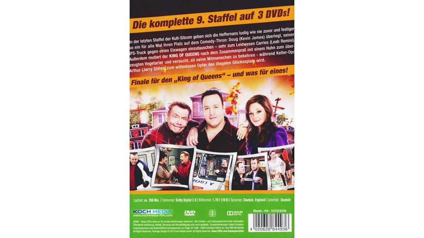 The King of Queens Season 9 Remastered 3 DVDs