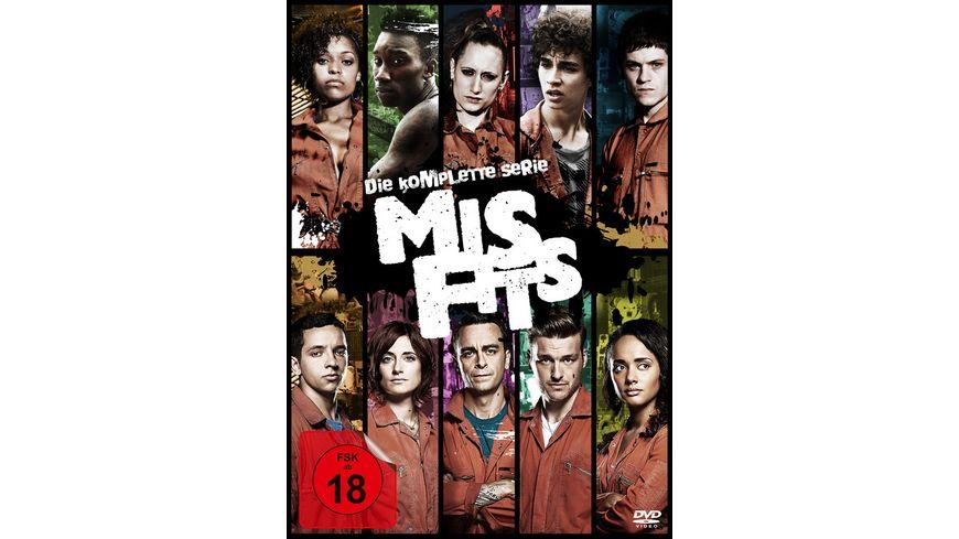 Misfits Die komplette Serie 13 DVDs Poster