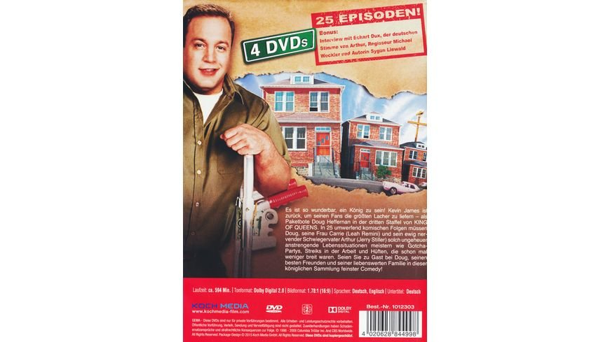 The King of Queens Season 3 Remastered 4 DVDs