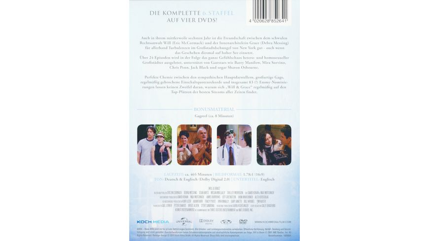 Will Grace Staffel 6 4 DVDs