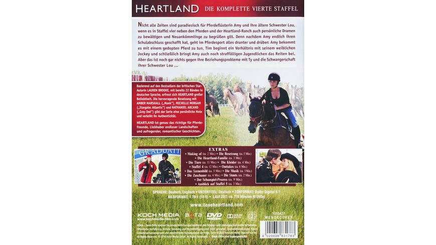 Heartland Paradies fuer Pferde Staffel 4 6 DVDs