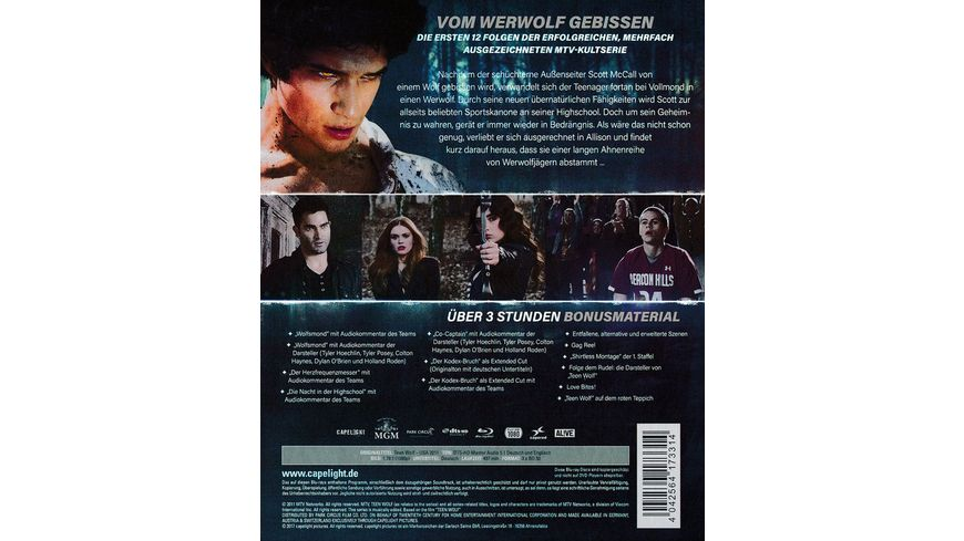 Teen Wolf Die Komplette erste Staffel 3 BRs
