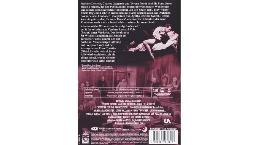 Zeugin der Anklage DVD