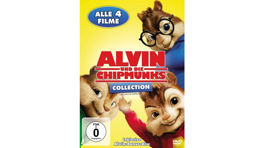 Alvin und die Chipmunks Collection Teil 1 4 5 DVDs