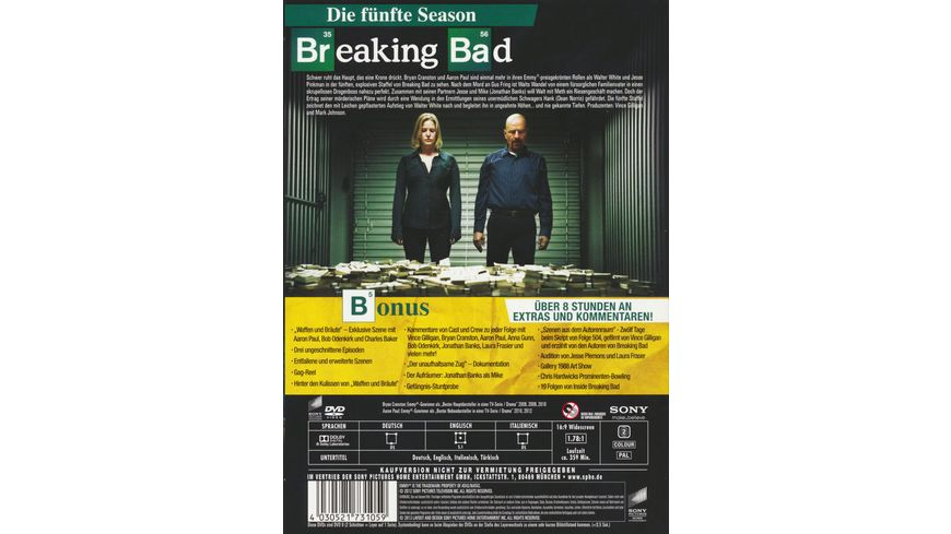 Breaking Bad Season 5 3 DVDs