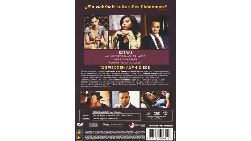 Empire Die komplette Season 1 4 DVDs