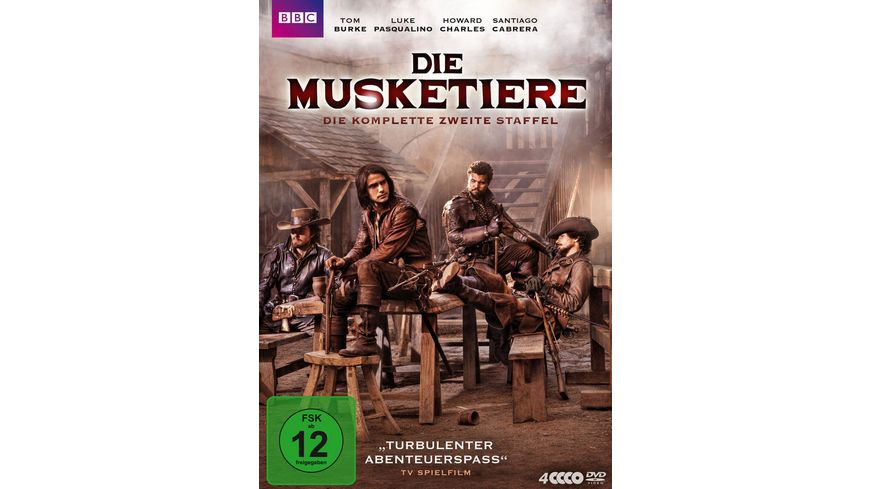 Die Musketiere Die komplette zweite Staffel 4 DVDs