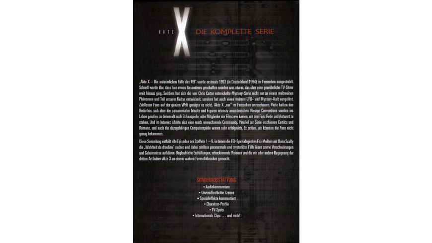 Akte X Complete Box 53 DVDs