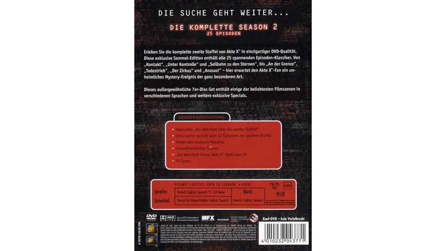Akte X Season 2 7 DVDs