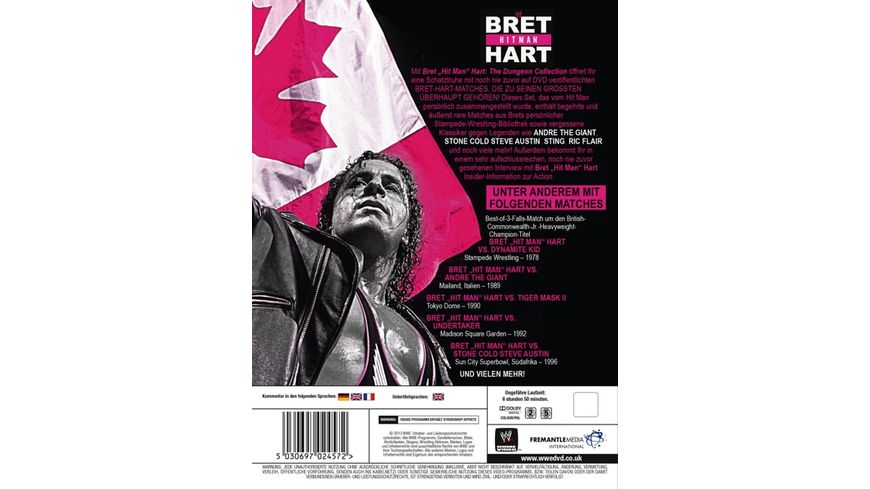Bret Hit Man Hart The Dungeon Collection 3 DVDs