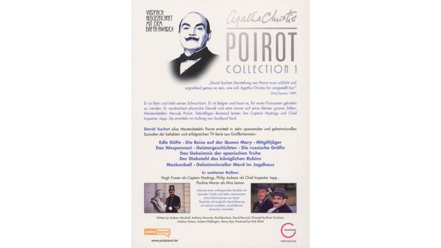 Agatha Christie Poirot Collection 1 3 DVDs