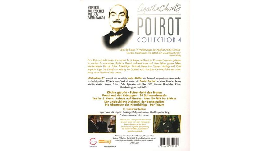 Agatha Christie Poirot Collection 4 3 DVDs