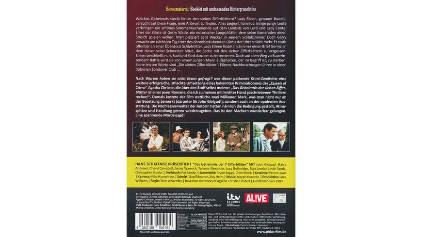 Agatha Christie Das Geheimnis der 7 Zifferblaetter 2 DVDs