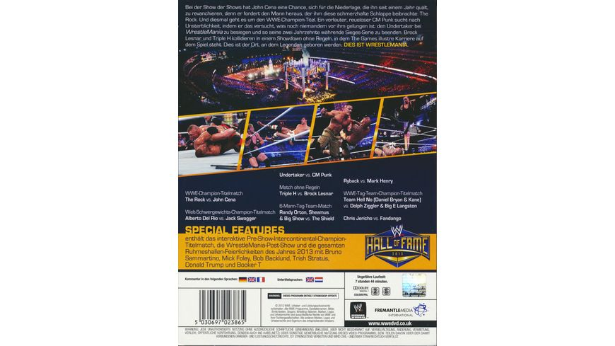 WWE Wrestlemania 29 3 DVDs