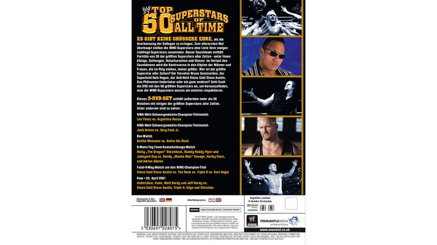Top 50 Superstars Of All Time 3 DVDs