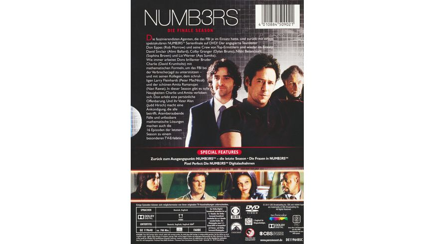 Numbers Season 6 4 DVDs