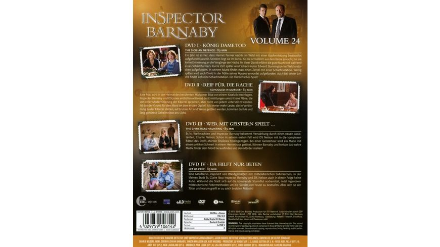 Inspector Barnaby Vol 24 4 DVDs