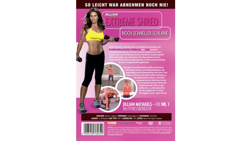 Jillian Michaels Extreme Shred Noch schneller schlank