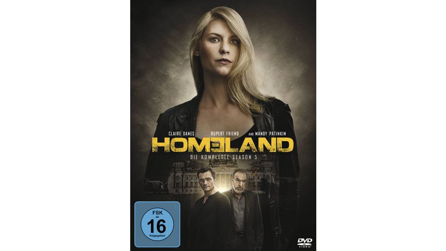 Homeland Season 5 4 DVDs
