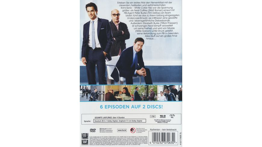 White Collar Season 6 2 DVDs