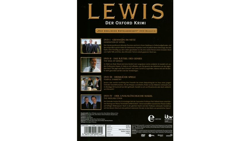 Lewis Der Oxford Krimi Staffel 6 4 DVDs