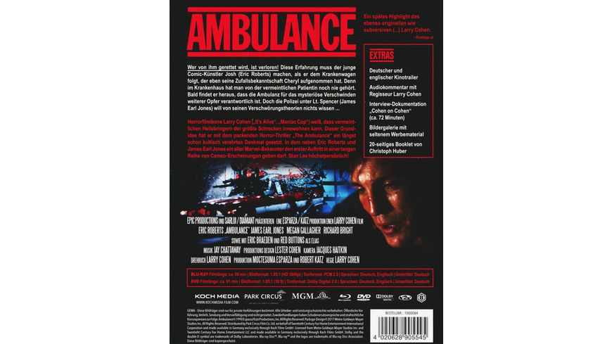 Ambulance Mediabook 2 DVDs