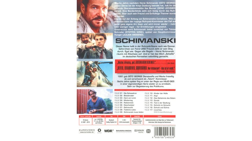 Schimanski Die Gesamtkollektion Alle 17 Filme auf 9 DVDs inkl Loverboy 9 DVDs