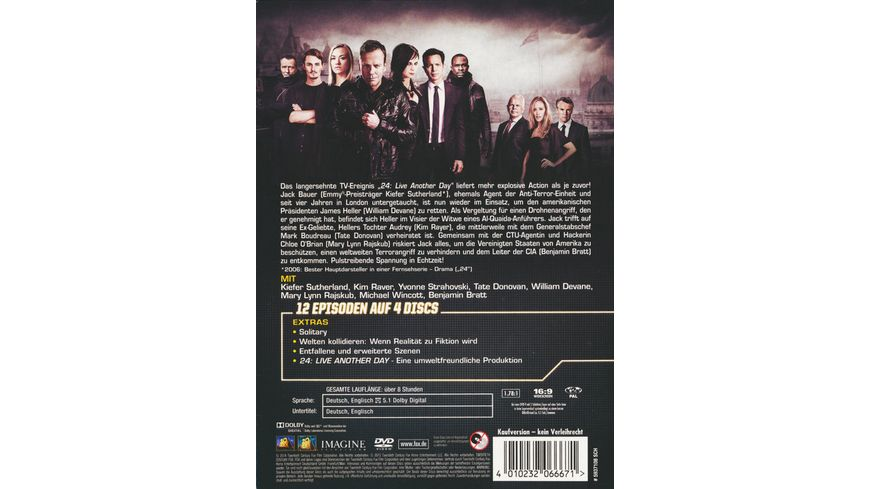 24 Season 9 Box Set 4 DVDs