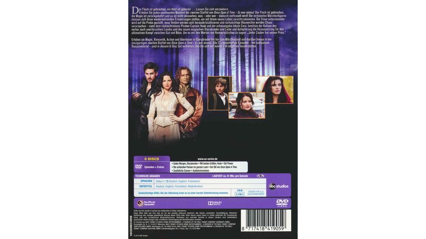Once upon a time Es war einmal Staffel 2 6 DVDs