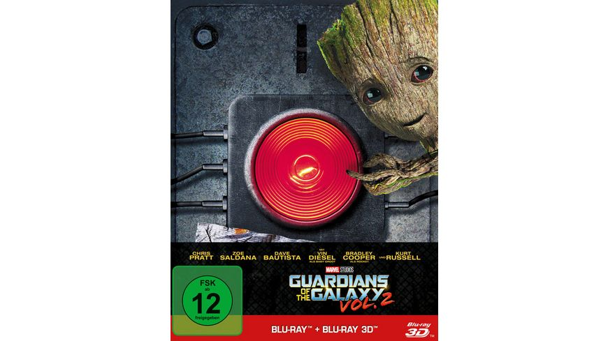 Guardians of the Galaxy 2 Steelbook Blu ray 2D