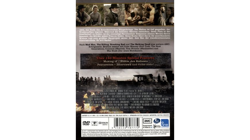 Hell on Wheels Die komplette erste Staffel 3 DVDs